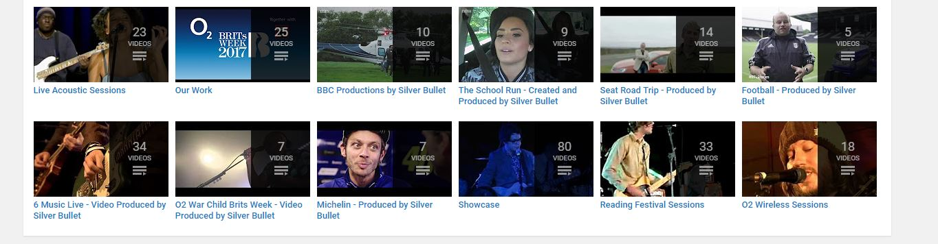 silver bullet youtube playlists